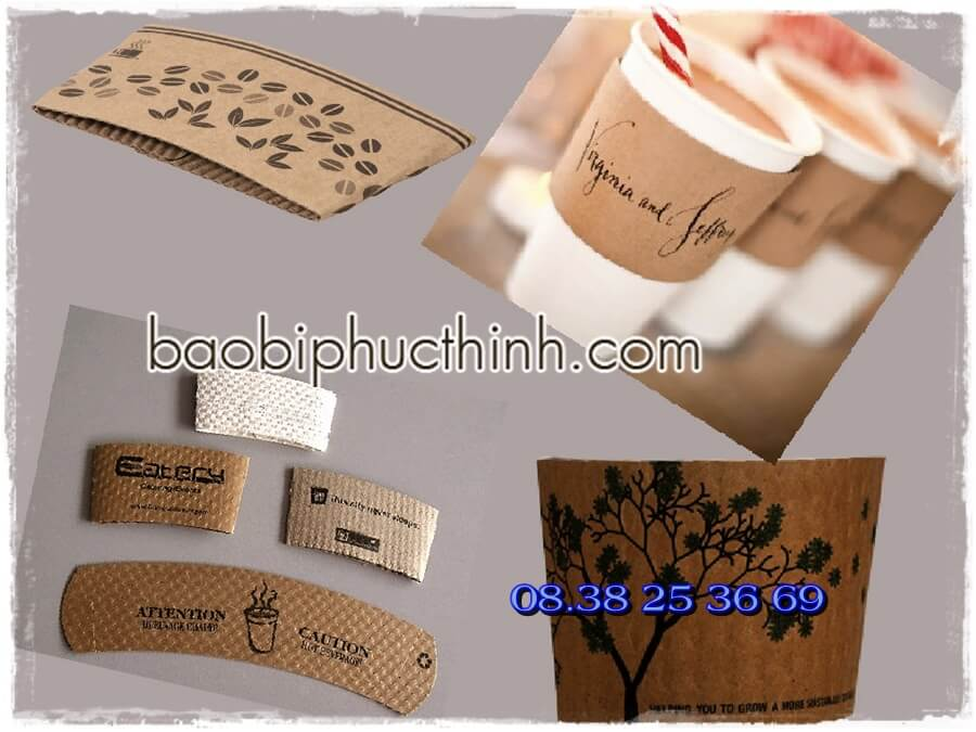 tay ao , tay ao ca phe, tay ao coffee, tay áo ly giấy, paper cup cover, coffee-cup-sleeve